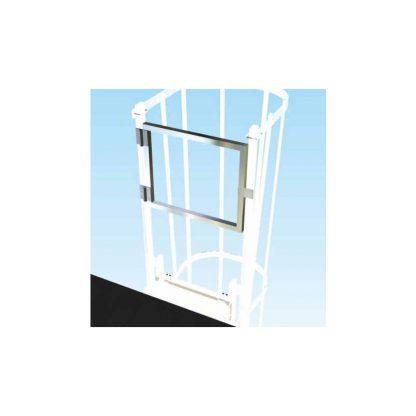Cancello di uscita per scale con gabbia