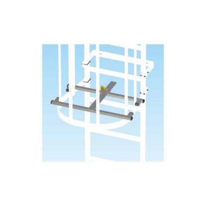 Griglia anti intrusione per scale con gabbia