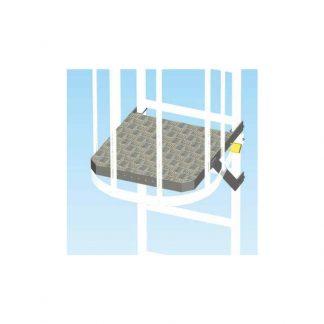 Pianetto anti intrusione per scale con gabbia