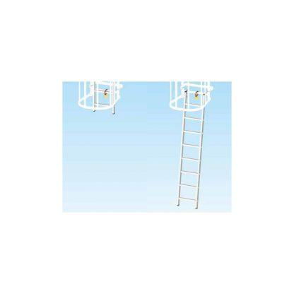 Scala partenza estraibile per scale con gabbia