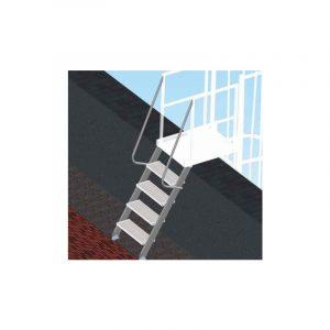 Scala di sbarco gradino 20 cm per scale con gabbia