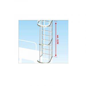Uscita intermedia laterale per scale con gabbia