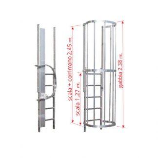 Scale con gabbia modulo finale MOTR