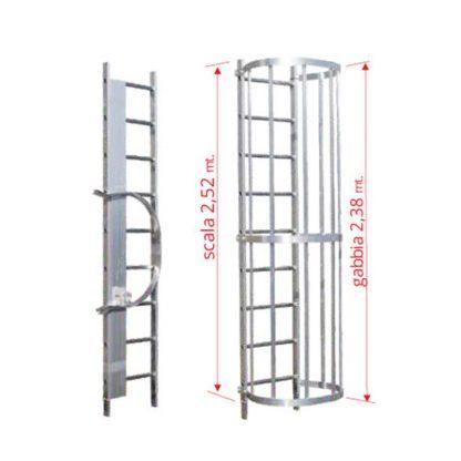 Scale con gabbia modulo intermedio MIS