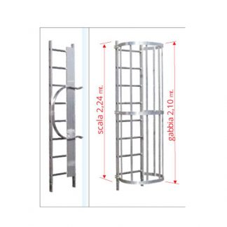 Scale con gabbia modulo intermedio MIS2