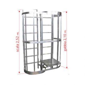 Scale con gabbia modulo intermedio sdoppiamento