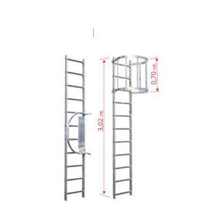 Scale con gabbia modulo di partenza MP2
