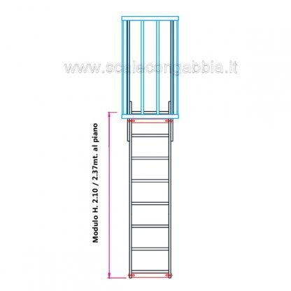 Scala con gabbia modulare componibile configurazione 1