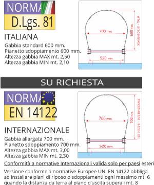 Scale con gabbia normativa DL 81/08 EN 14122