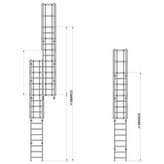 Scala con gabbia modello GAB