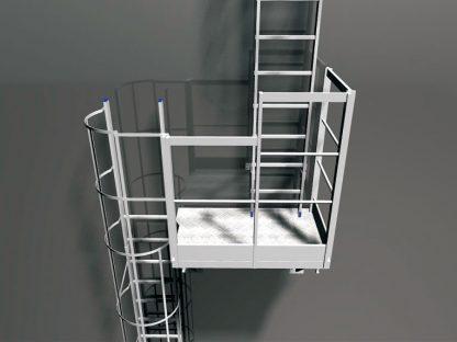 Modulo di sadoppiamento scala con piattaforma autoportante