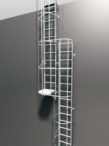 Modulo di sadoppiamento scala con piattaforma di riposo