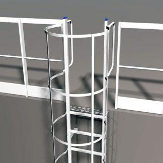 Parapetti laterali per scala con gabbia