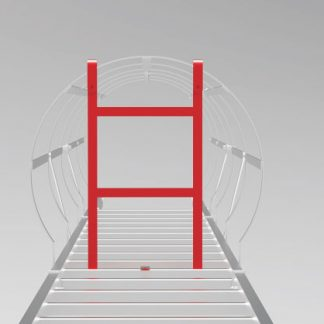 griglia anti intrusione per scala con gabbia